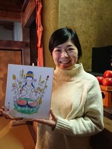 『准胝観音』さまの仏画を御奉納いただきました。